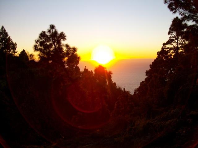 Sonnenuntergang auf der Finca